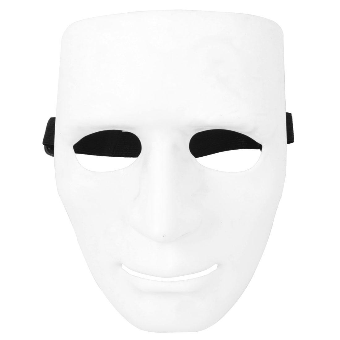 Airsoft War Game White Plastic Full Face Plain Mask for Man