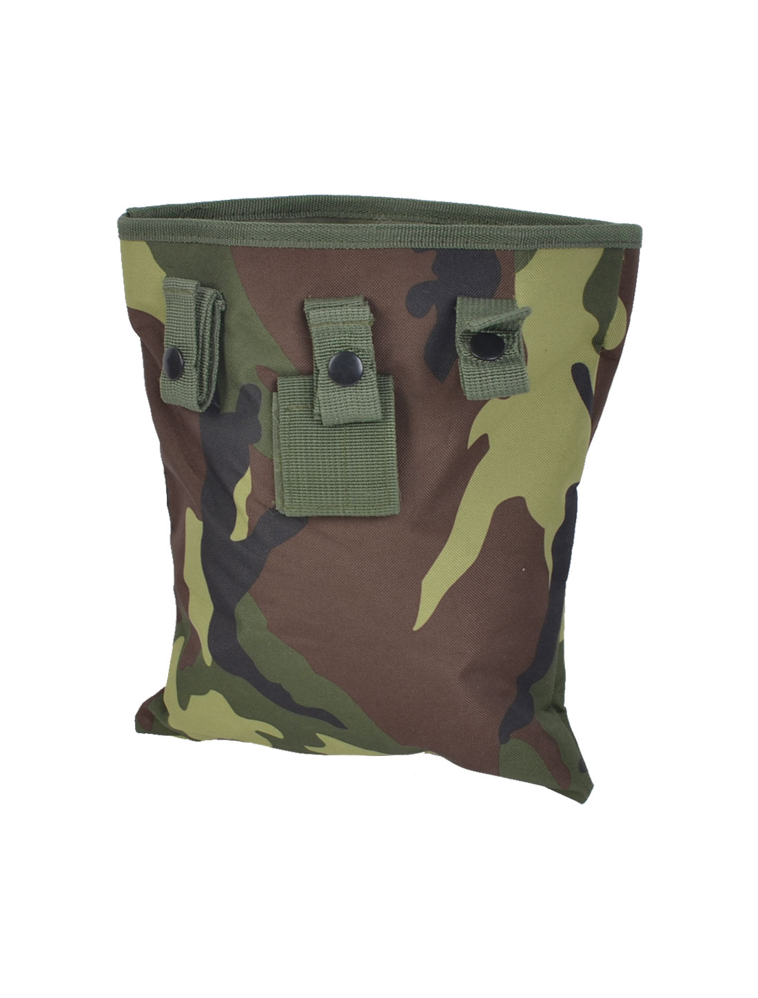 Drawstring Closure Camouflage Pattern Canvas Pouch Waist Bag