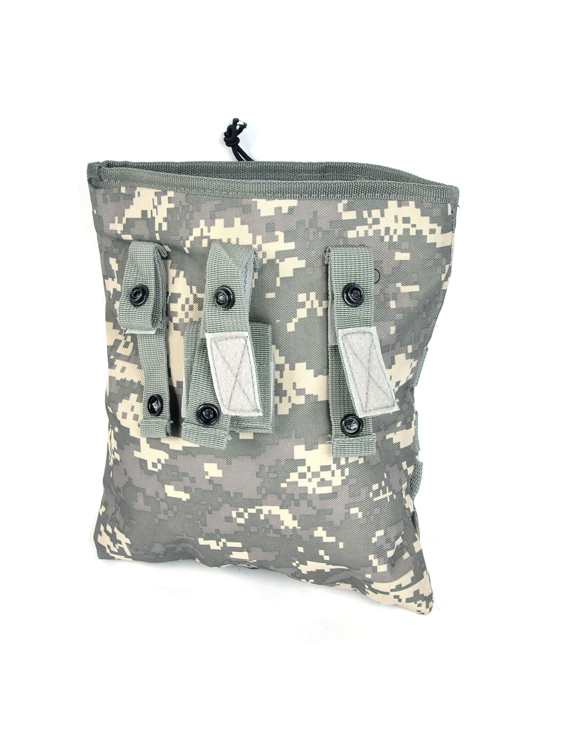 Wayfarer Drawstring Closure Camouflage Pattern Canvas Pouch Waist Bag