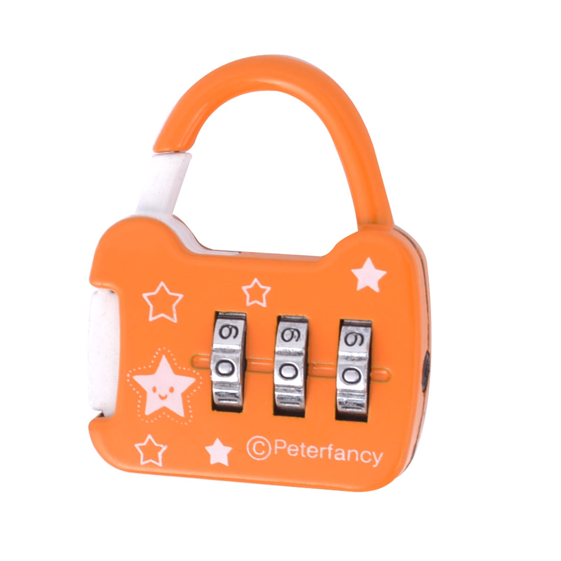 Orange Handbag Shaped Jewelry Box Drawer Combination Password Padlock