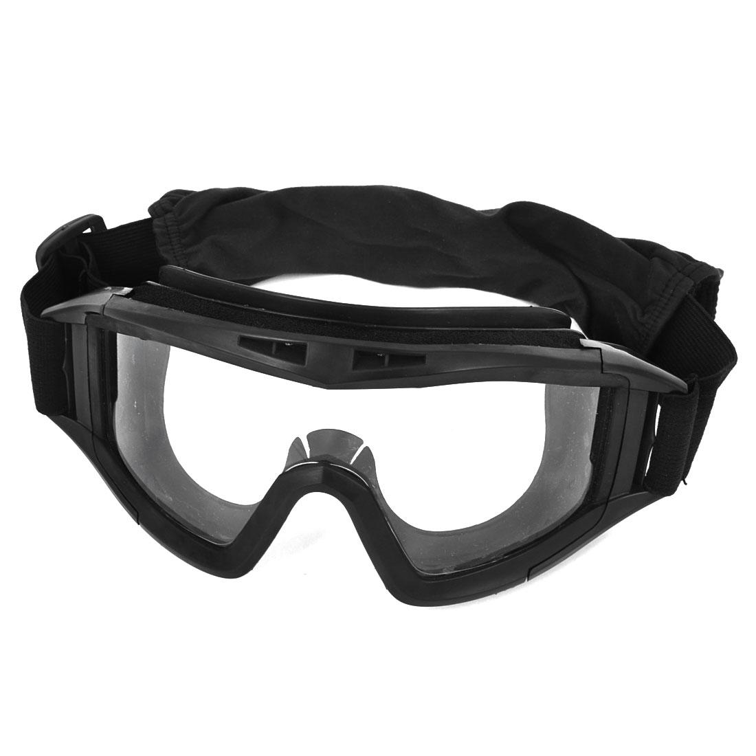 Black Winter Cycling Padded Glasses Anti Fog Ski Goggles Sunglasses