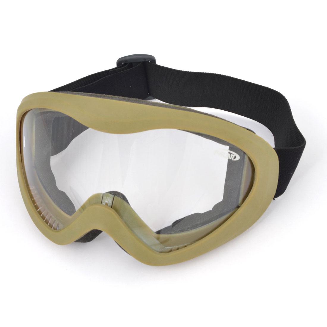 Khaki Winter Cycling Padded Glasses Anti Fog Ski Goggles Sunglasses