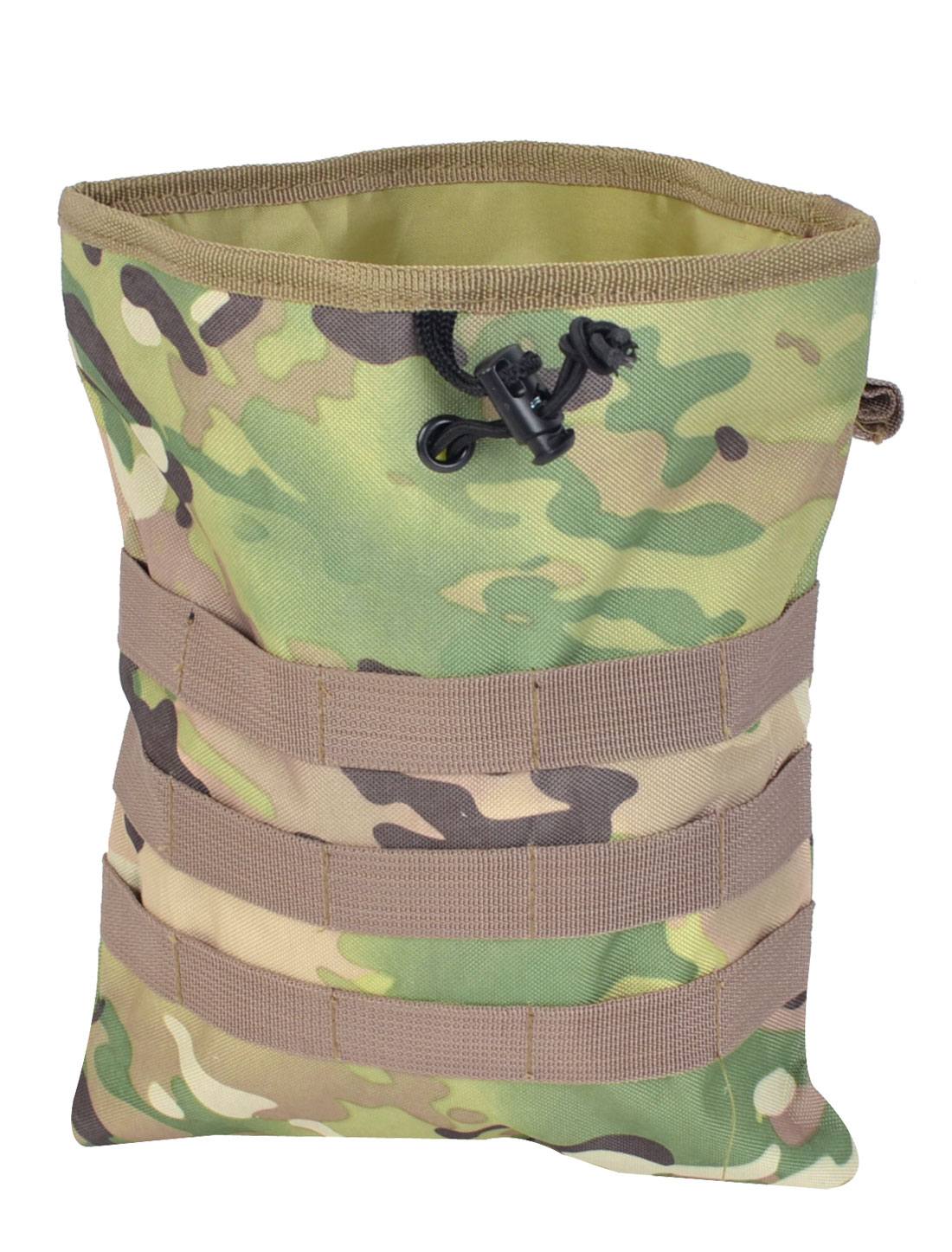 Outdoor Drawstring Closure Camouflage Pattern Canvas Pouch Waist Pack Bag