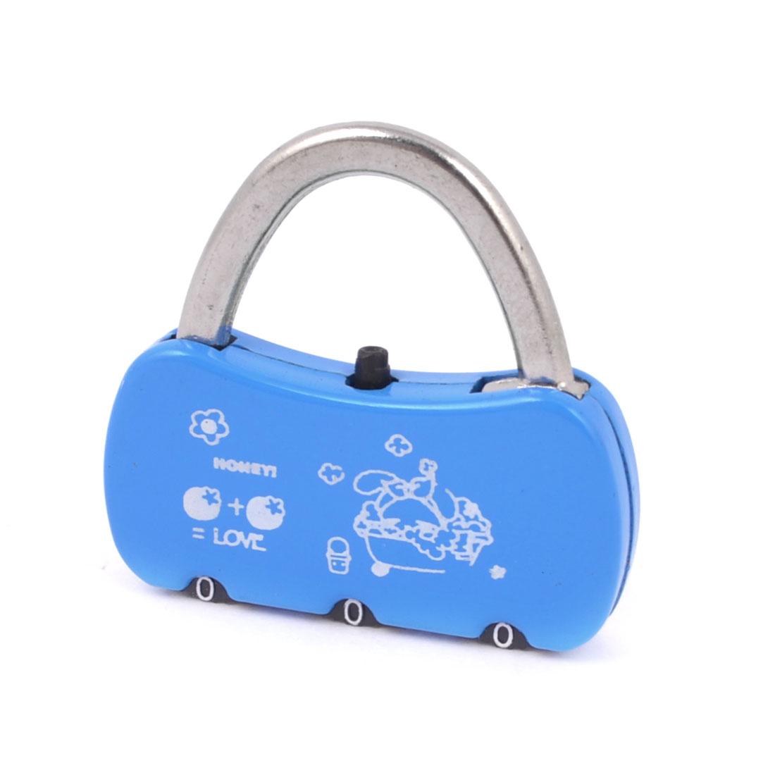 Blue Handbag Shaped Jewelry Box Drawer Combination Password Padlock