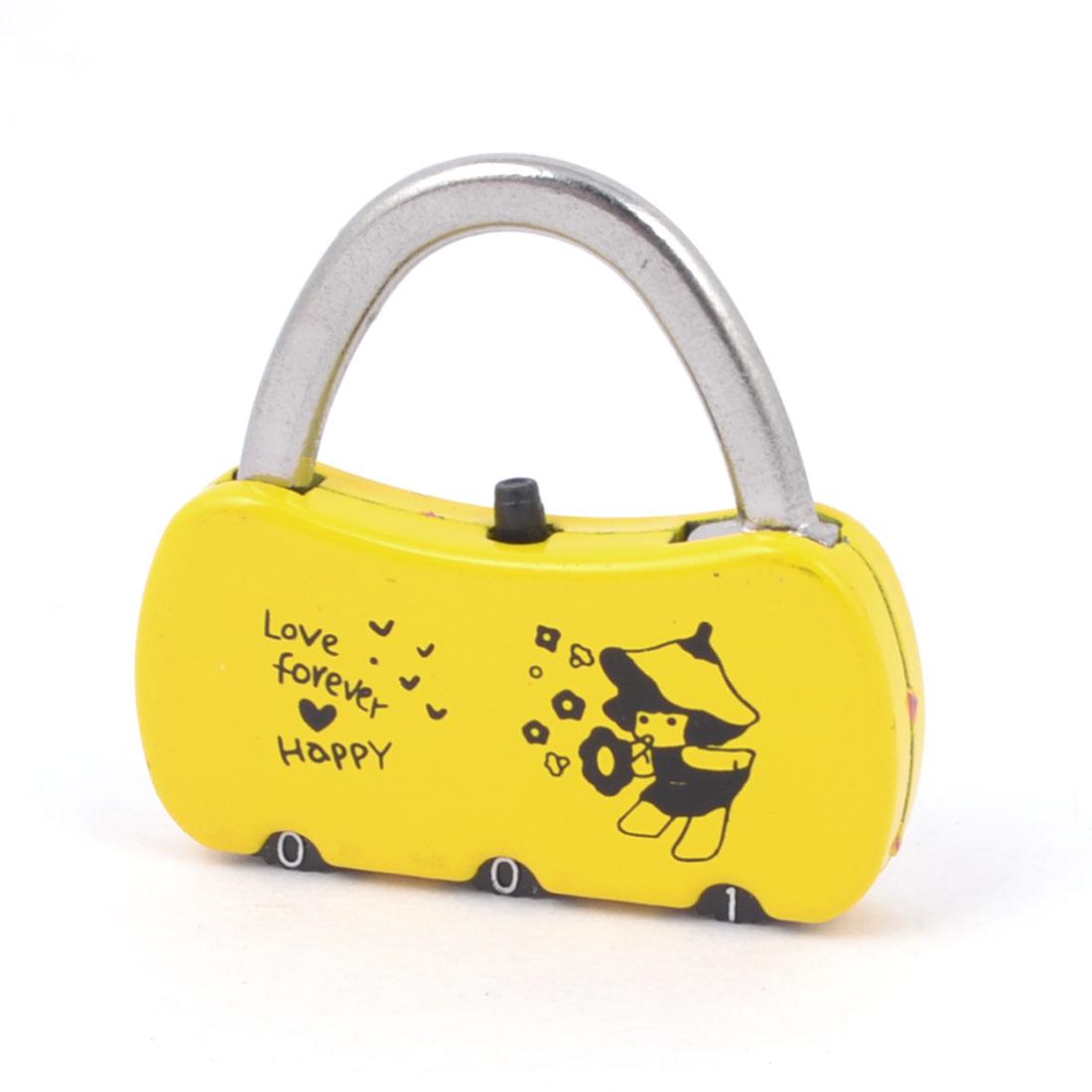 Yellow Bag Shaped Jewelry Box Drawer Combination Password Padlock