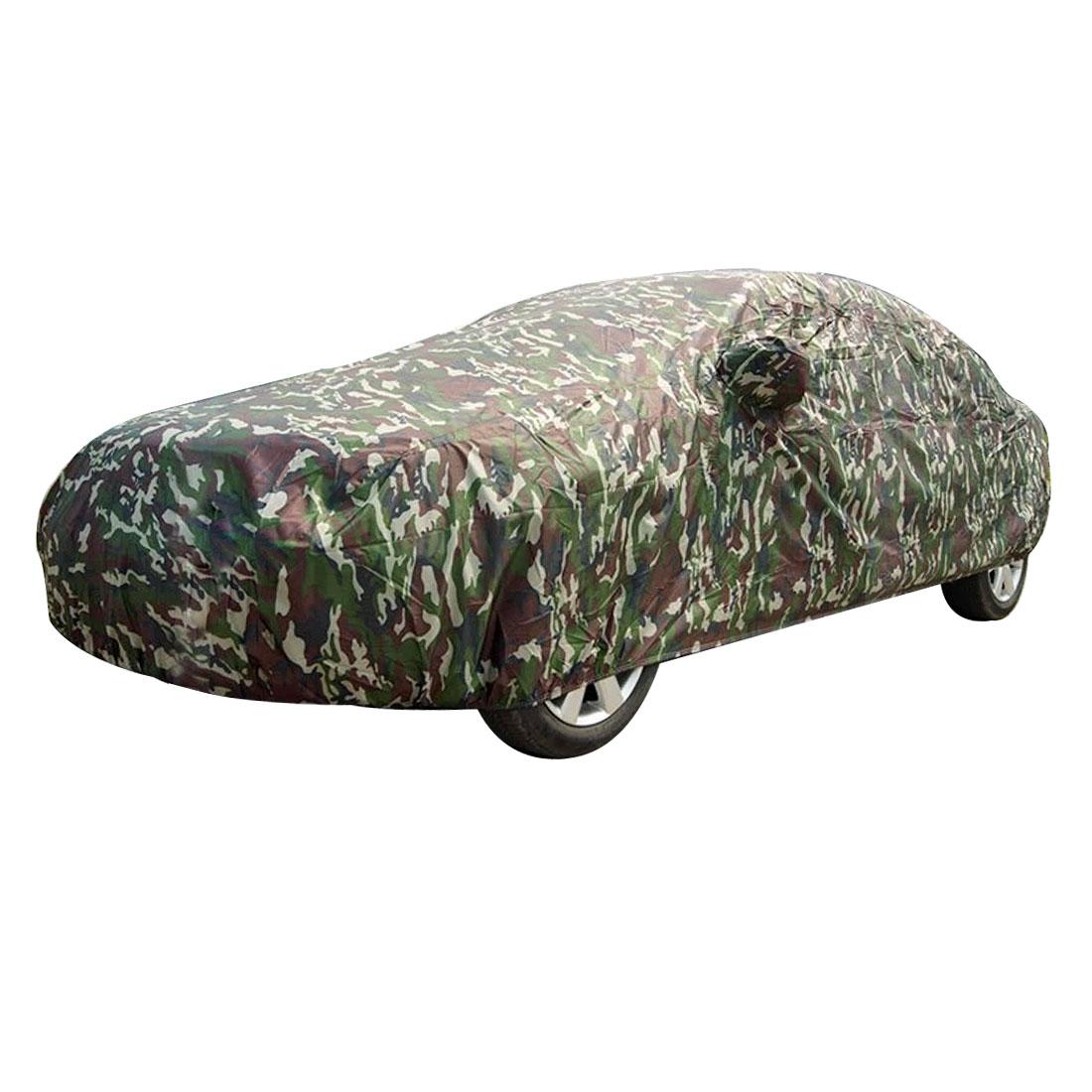 Auto Car Plastic Fleece Camouflage Pattern Snowbreak Half Cover XL