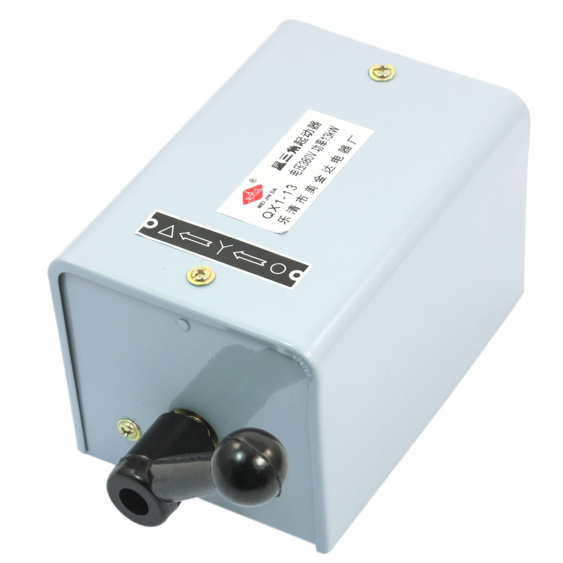 QX1-13 380V 28A 13kW 2 Position 3 Phase Rotary Knob Enclosed Star Triangle Motor Protection Starter Protector