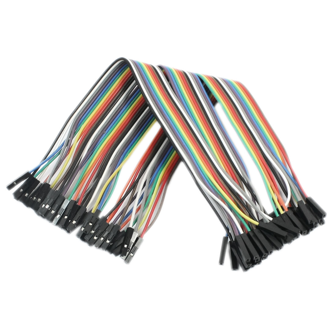 215mm 2.54mm Pitch 40-Pin 1P-1P Female to Female Connecting Testing Jumper Wire Cable