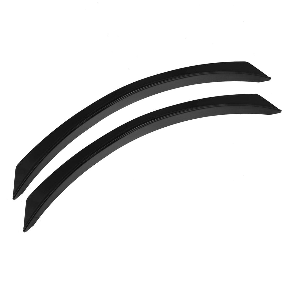 Auto Car Decorative Wheel Arch Eyebrow Strip Guard Sticker Black 2 Pcs