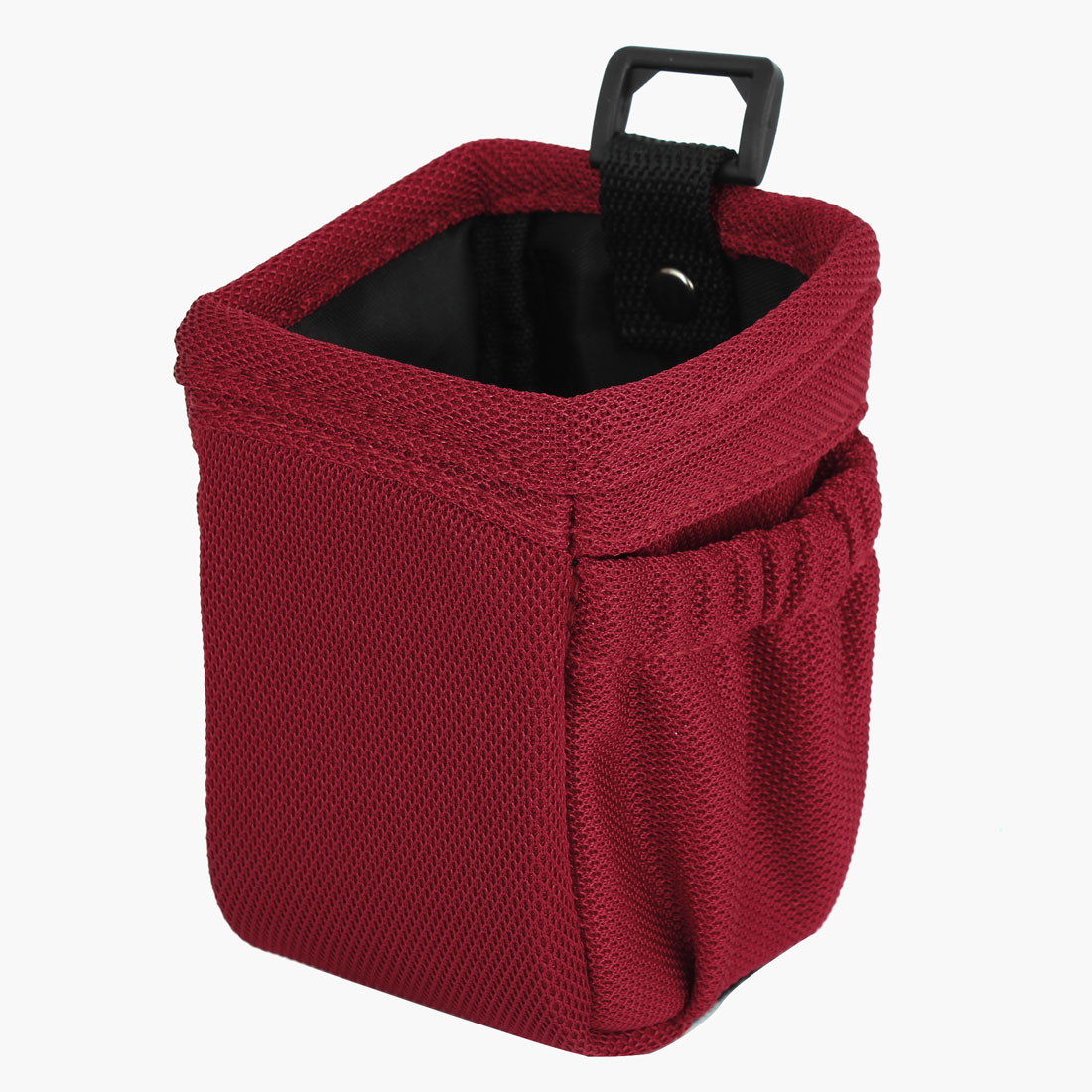 Red Nylon Square Shape Mobile Phone Pouch MP3 MP4 Holder Pocket for Car Vehicle