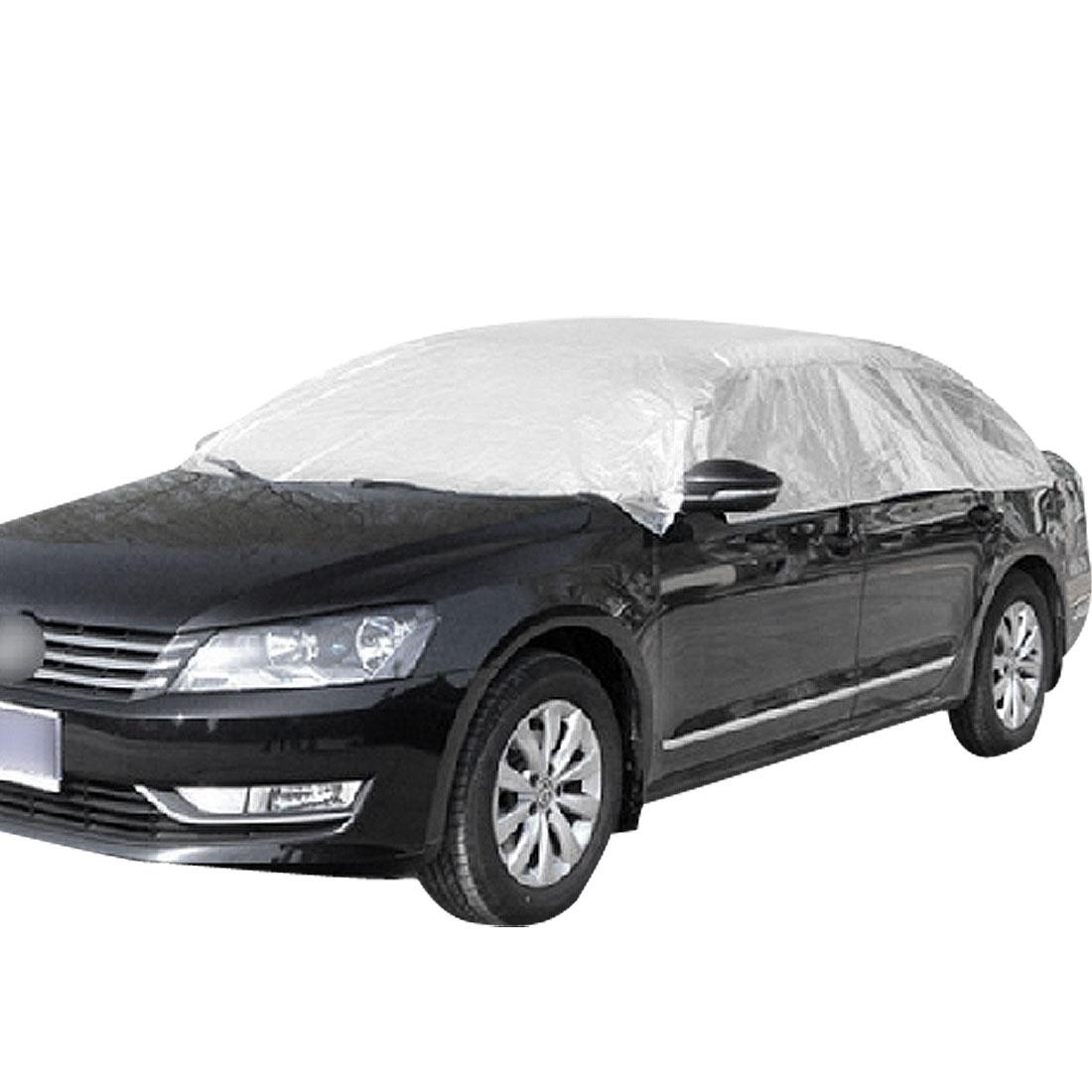 470 x 450cm Silver Tone Non-woven Reflective Half Cover Protector for Auto Car