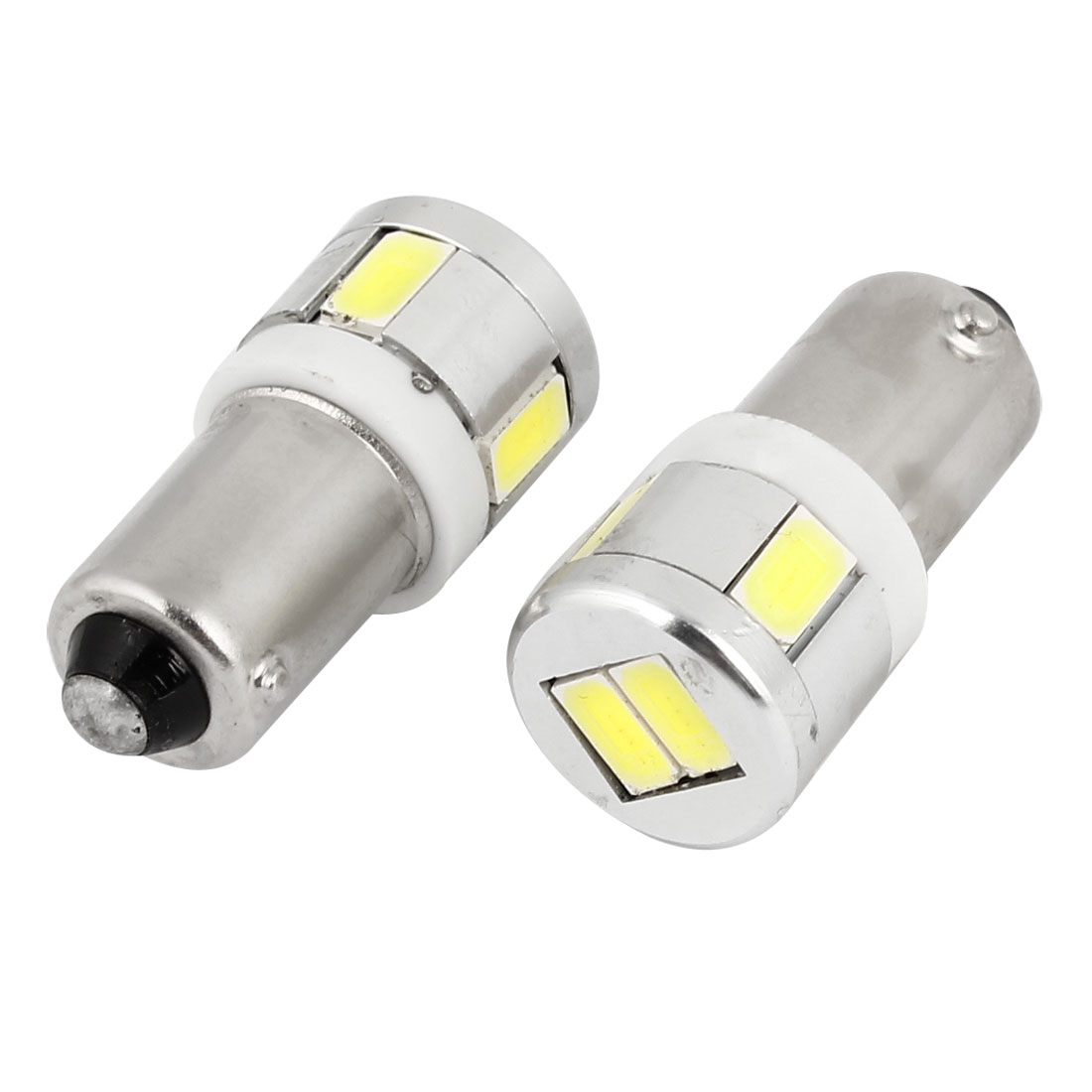 BA9S T4W Base White 5730 SMD 6 LED Car Dashboard Side Light Lamp Bulb 2 Pcs
