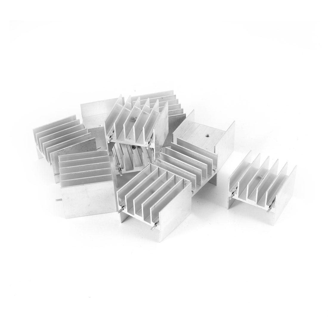 10 Pcs Aluminium Radiator Fin Heatsink Heat Sink 30mm x 24mm x 30mm for MOS Tube IC