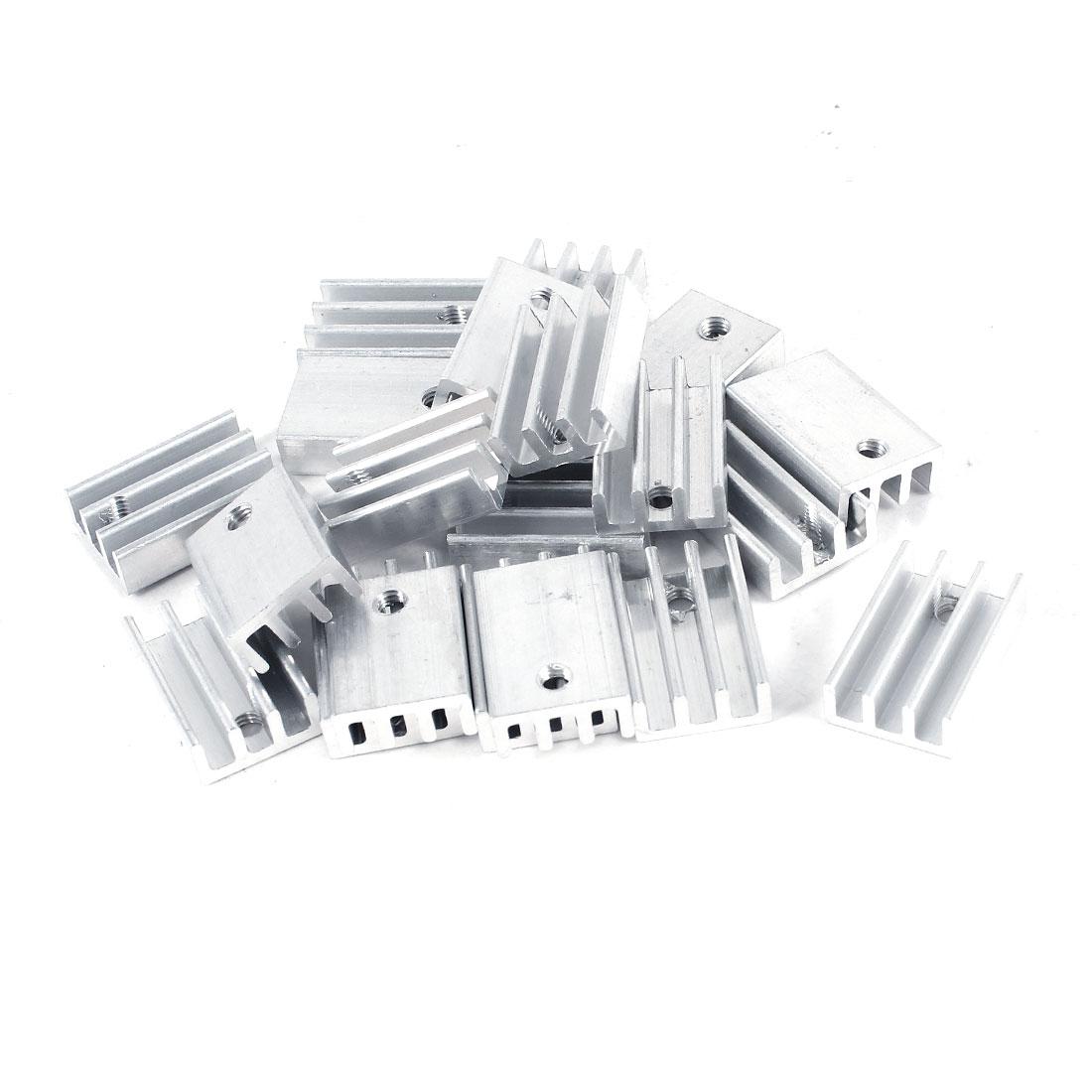 20 Pcs Aluminium Radiator Heatsink Heat Sink 15X11X5mm for MOS Tube IC Memory