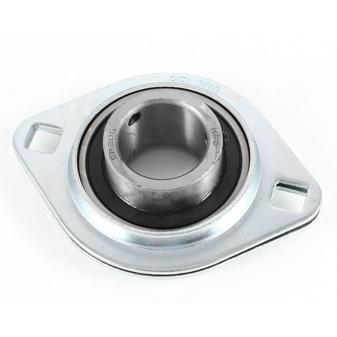 SBPFL206 Pressed Steel 2-Bolt Flanged Pillow Block Bearing 30mm Inner Diameter