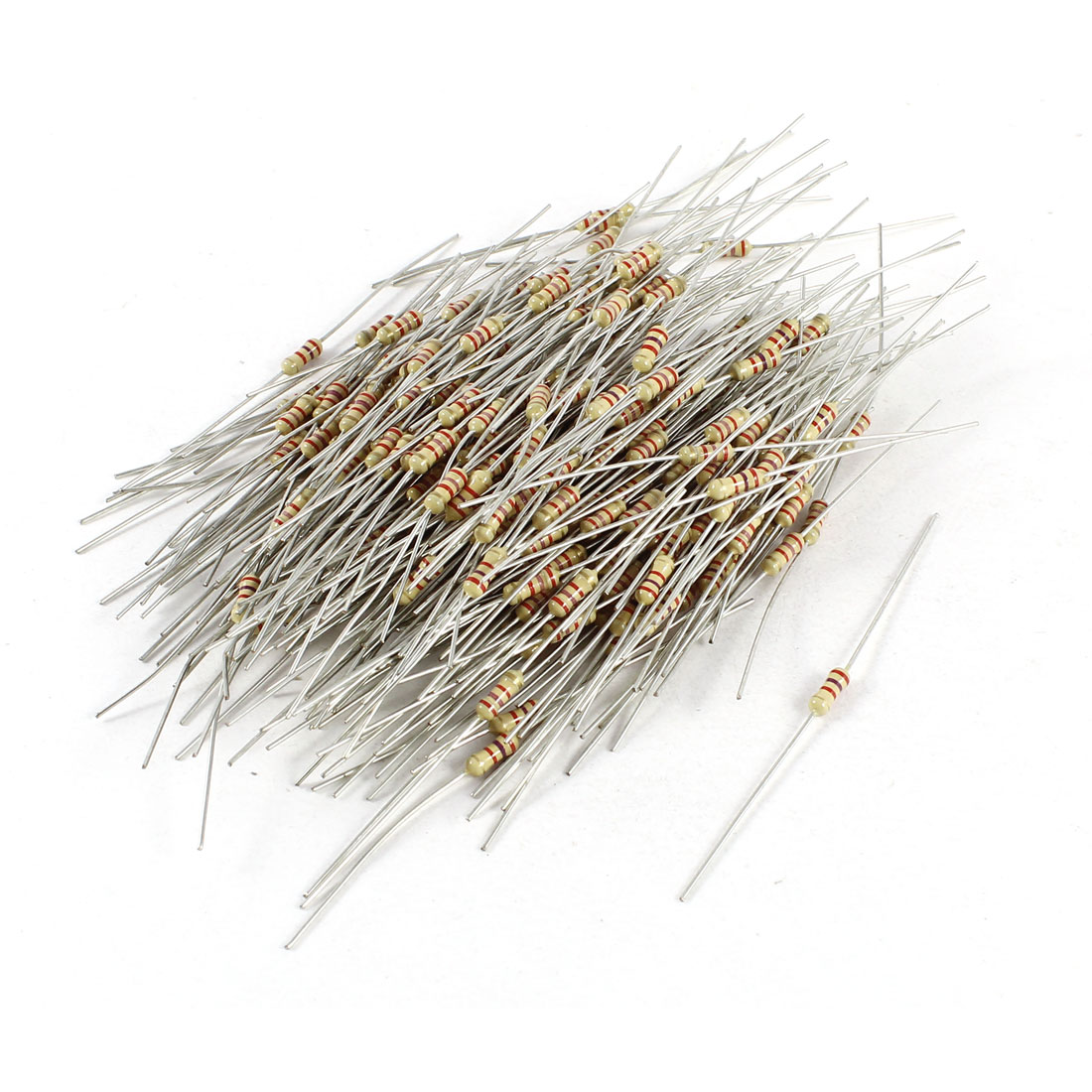 300 Pcs Axial Lead 2.7K Ohm 1/4W 5% Tolerence Carbon Film Resistor Resistance