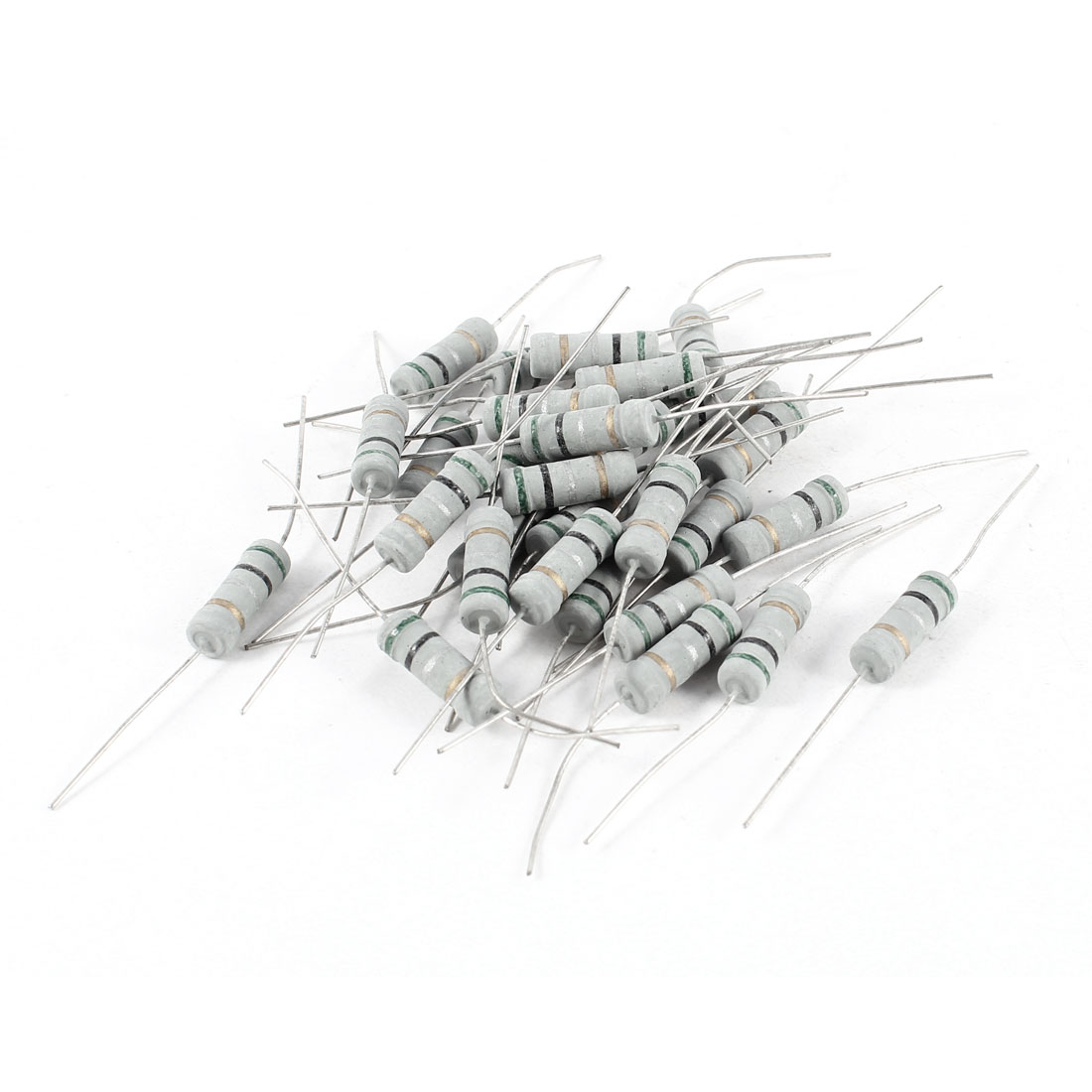 30 Pcs Axial Lead 2W 0.5Ohm 5% Tolerence Metal Oxide Film Resistor Resistance
