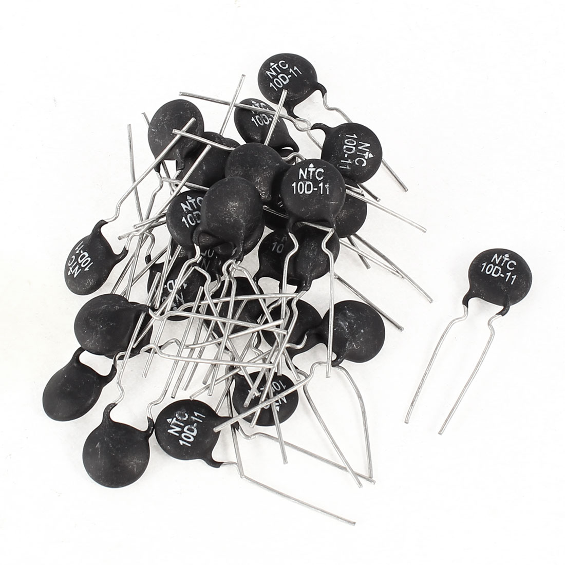 30 Pcs NTC 10D-11 10Ohm +/-10% Current Limiting Power Type Thermistor