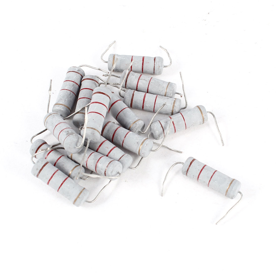 15 Pcs Axial Lead 1.2K Ohm 5W 5% Tolerence Metal Oxide Film Resistor Resistance