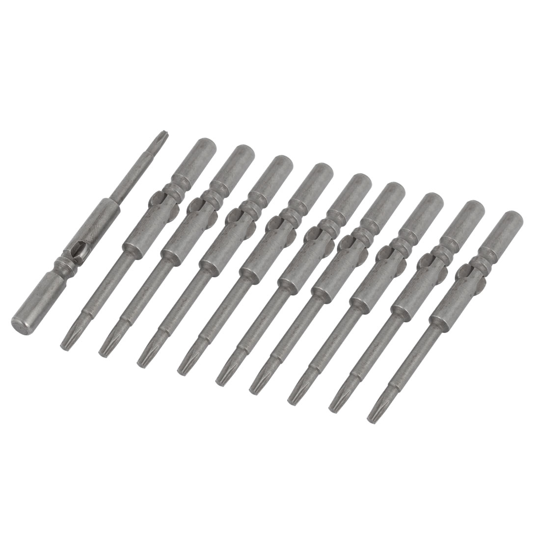10 Pcs Magnetic 2.3mm Tip T8 5mm Round Shank Metal Torx Screwdriver Bits