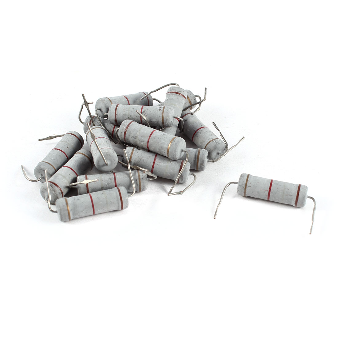 15 Pcs Axial Lead 1.8K Ohm 5W 5% Tolerence Metal Oxide Film Resistor Resistance