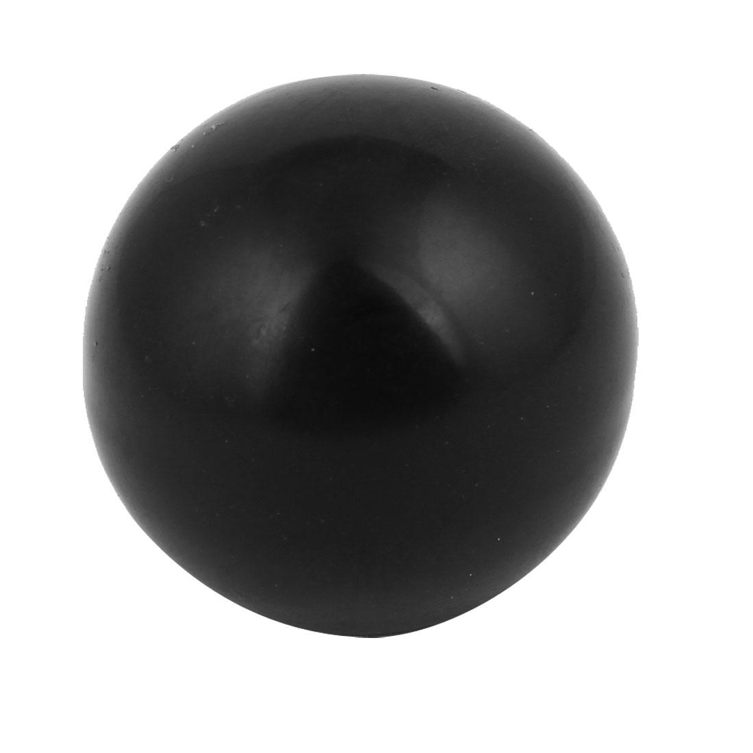 8mm Threaded 32mm Diameter Round Ball Knob Black