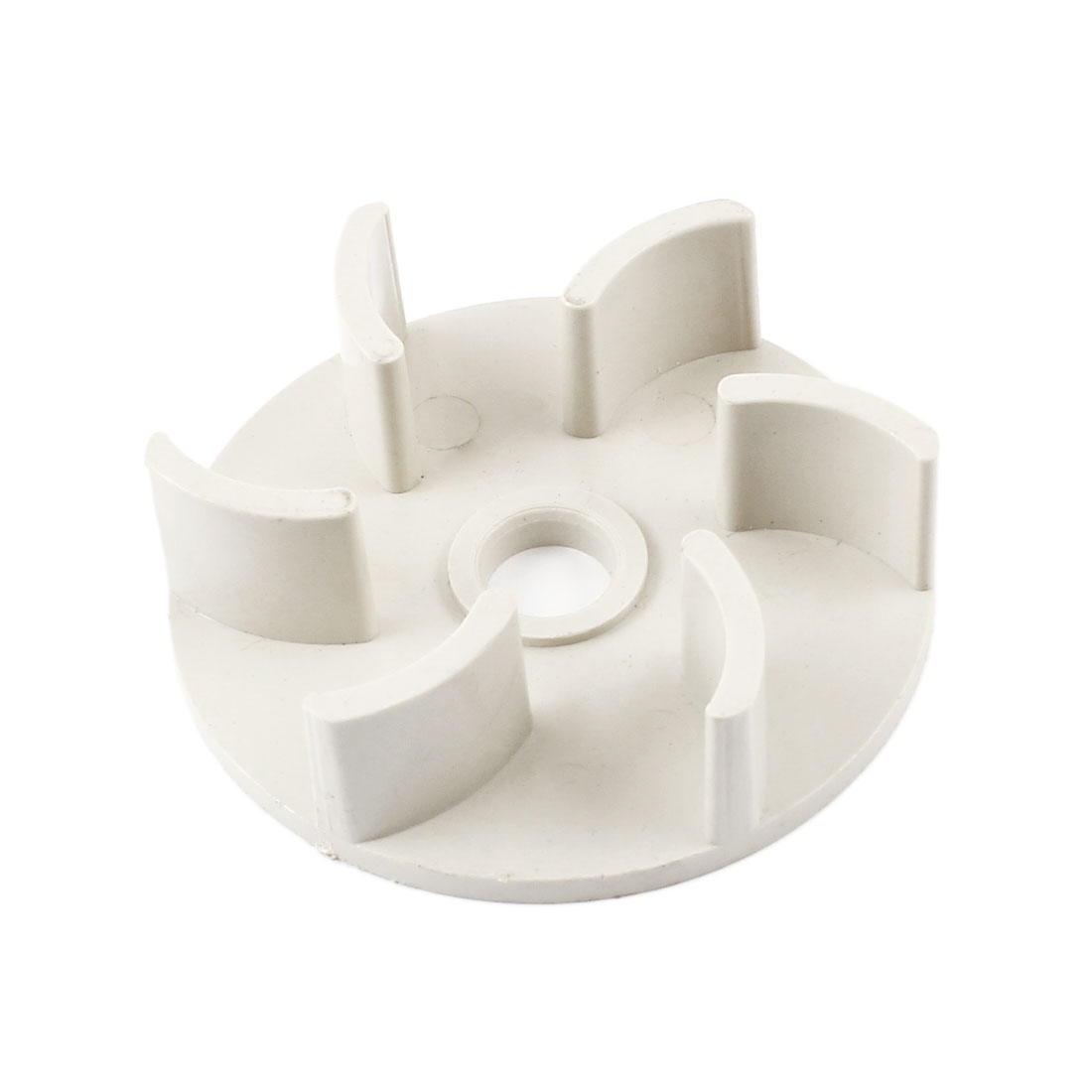 Beige Hard Plastic 61mm Outside Dia 10mm Inner Diameter 6 Fan Vanes Electric Water Fuel Pump Rotor Impeller