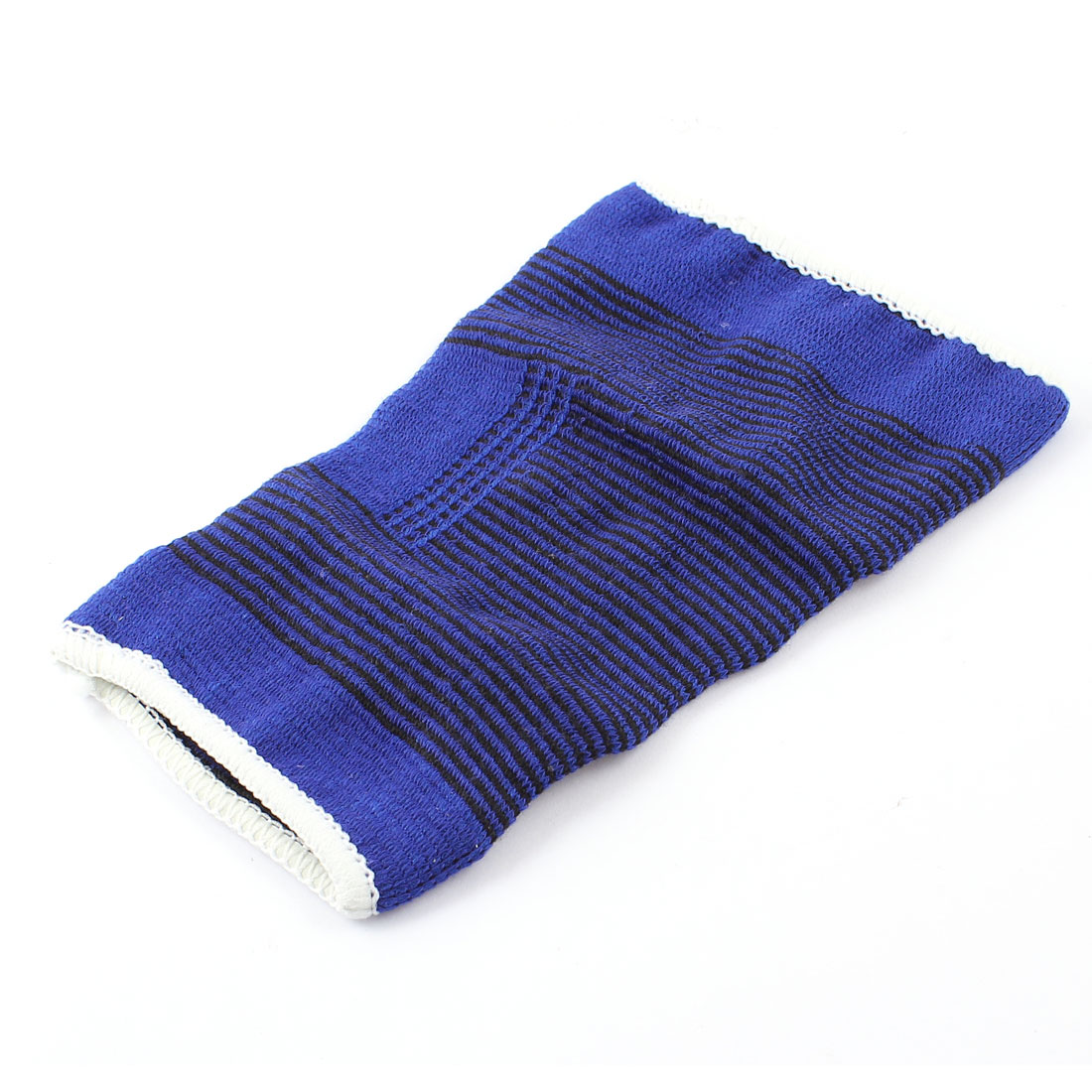 Blue Black Pinstripe Pullover Wearing Stretchy Knee Support Protector Sleeve