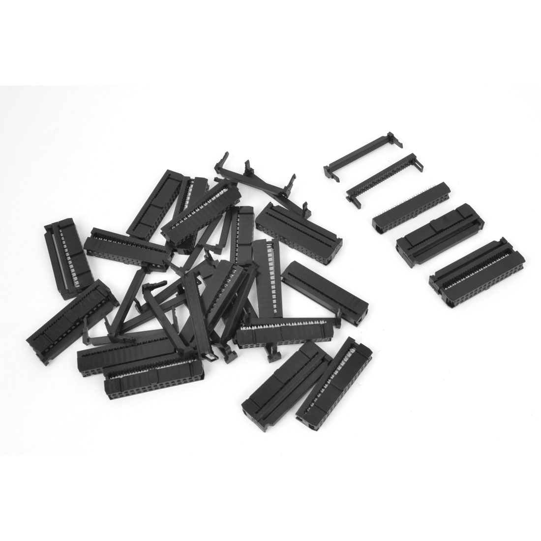 20PCS 2.54mm Pitch 2 x 15 Pin 30 Pin FC Female Header IDC Socket Connector Black