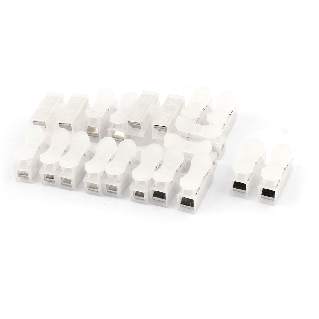 6 Pcs Wire Connection 2 Position Barrier Screw Terminal Strip Block 380V 10A