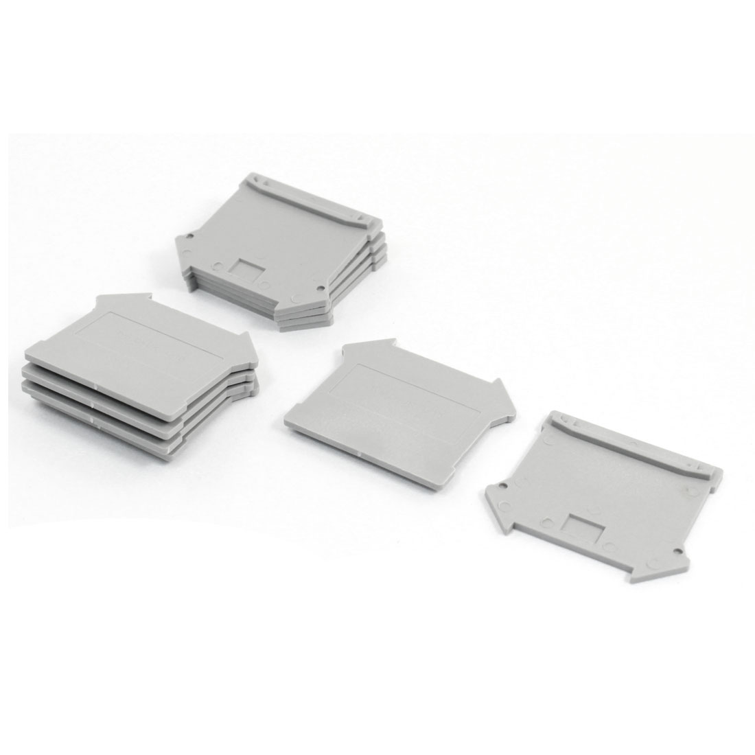 10Pcs Gray Plastic Partition End Plates UK 4/10 for 10N Terminal Block