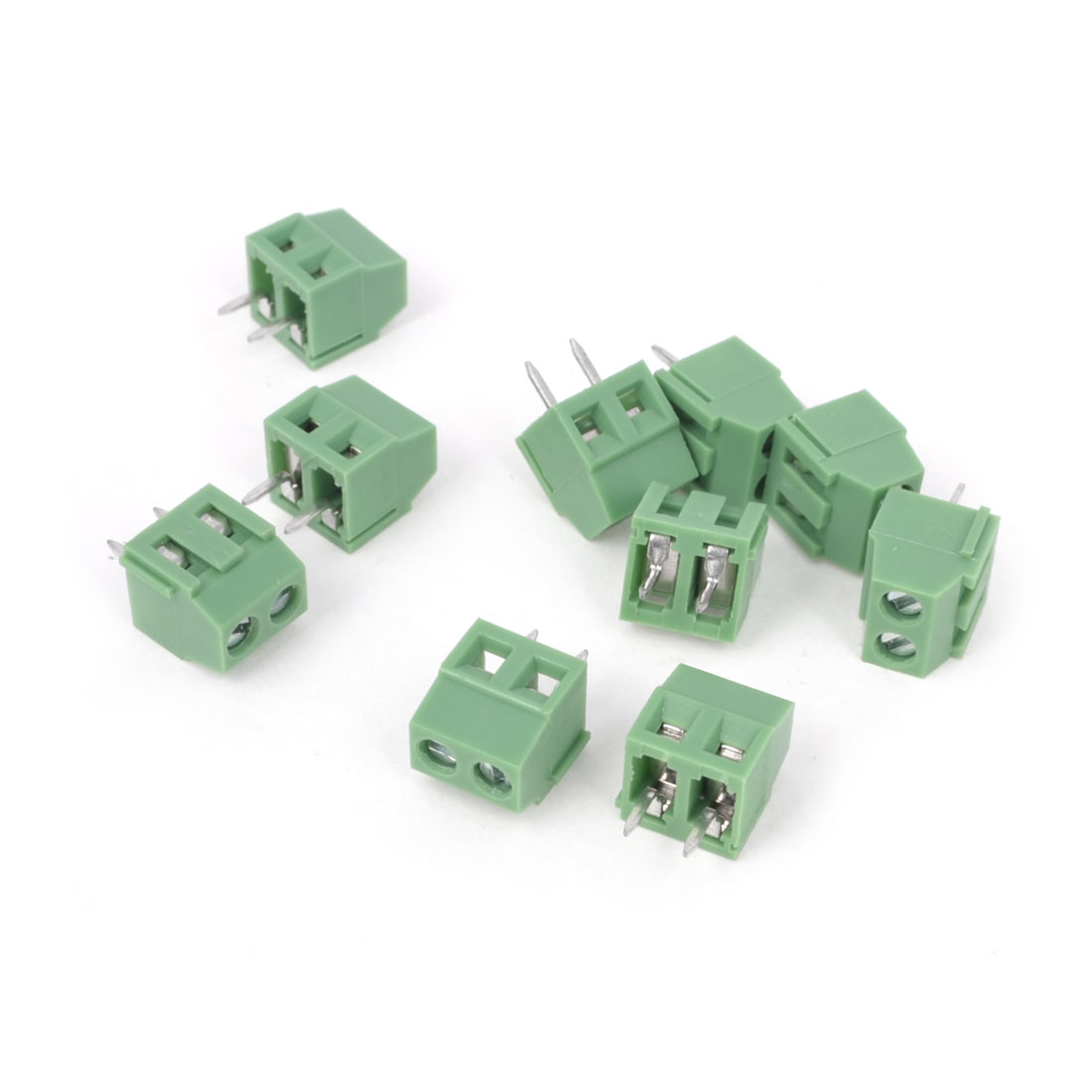 10Pcs 300V 10A 2P PCB Screw Terminal Block Connector 3.81mm Pitch Green
