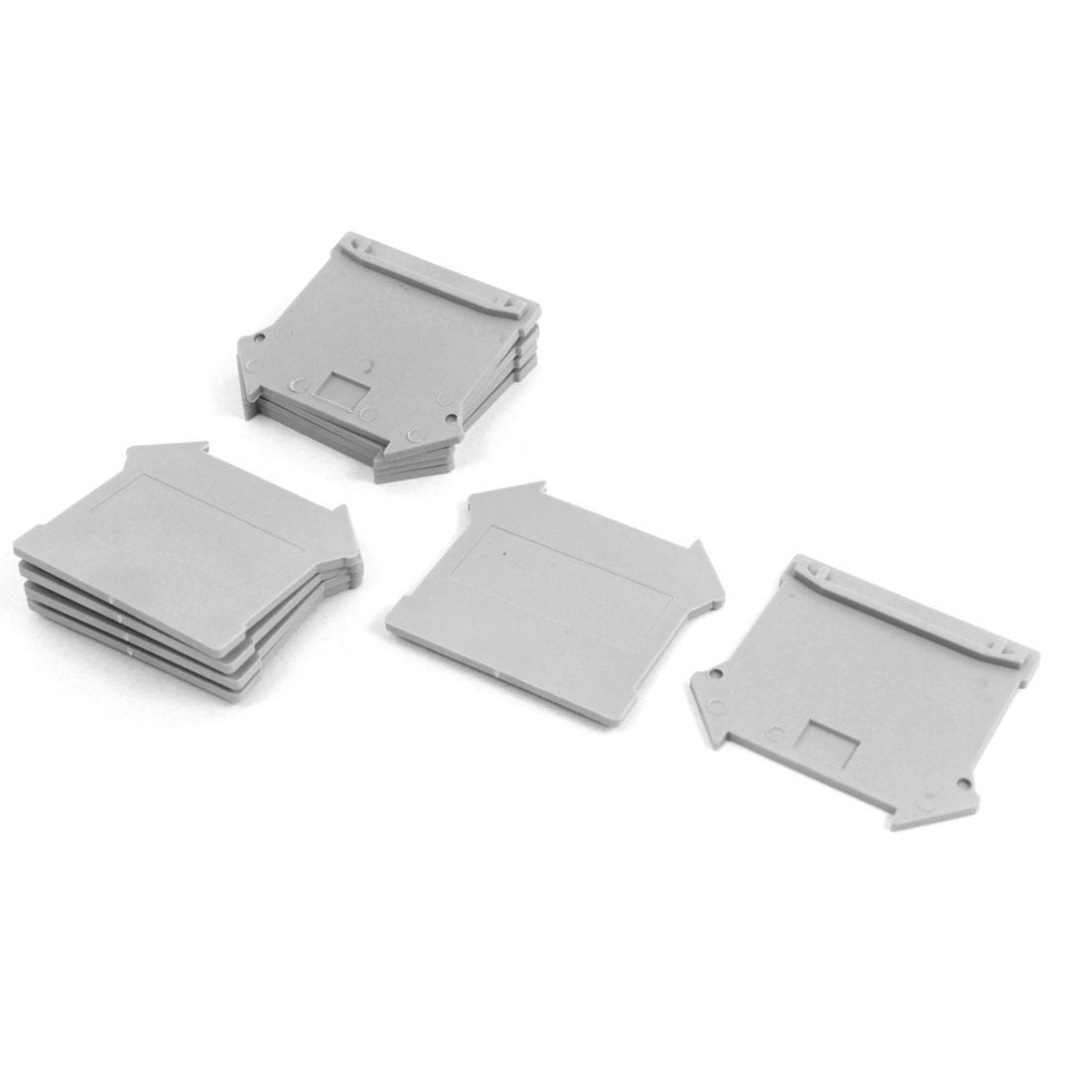 10pcs Gray Plastic Electronic Rail 5N Terminal Block Plate UK 4/10