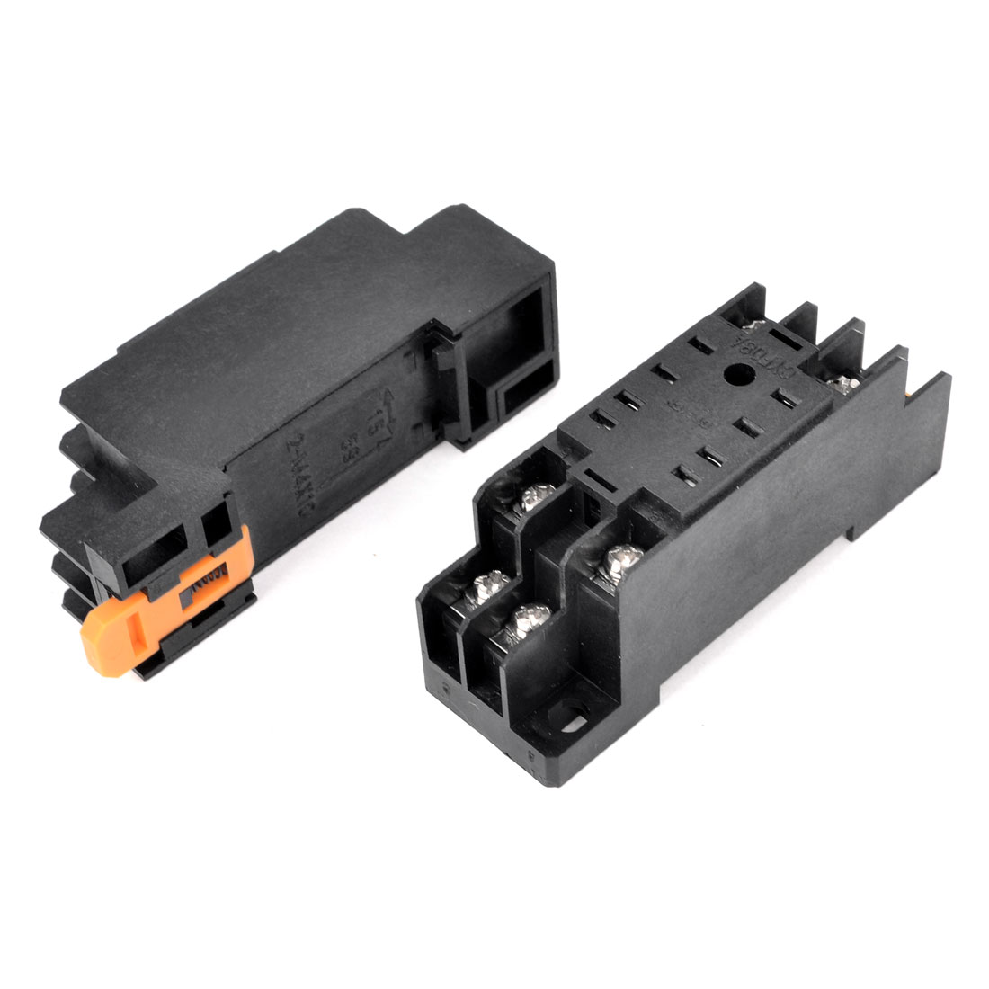2PCS PYF08A AC 220V 5A/DC 24V 5A 8 Pin DIN Rail Mount Power Relay Socket Base for HH52P MY2NJ