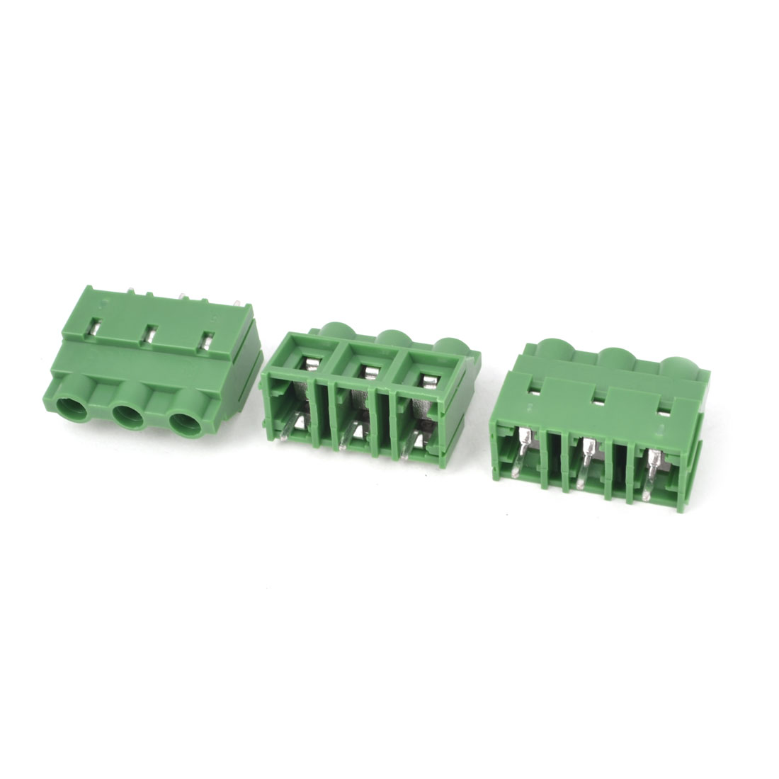 3Pcs 300V 30A 3P Poles PCB Screw Terminal Block Connector 9.5mm Pitch Green
