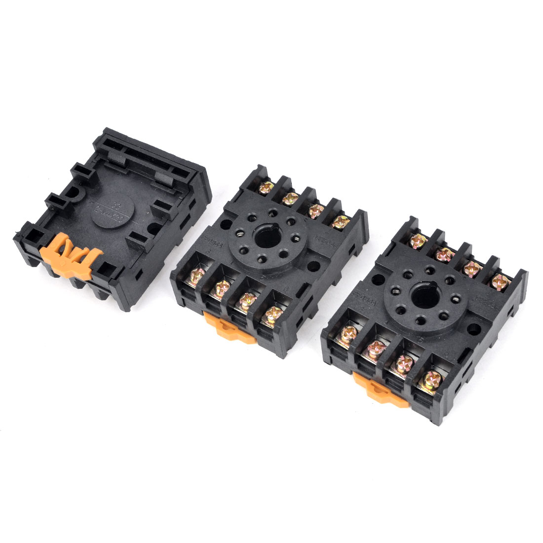 3PCS 300V 12A 35mm DIN Rail 8 Pin Screw Terminal PF-083A Socket Base for MK2P JTX-2C JQX-10F