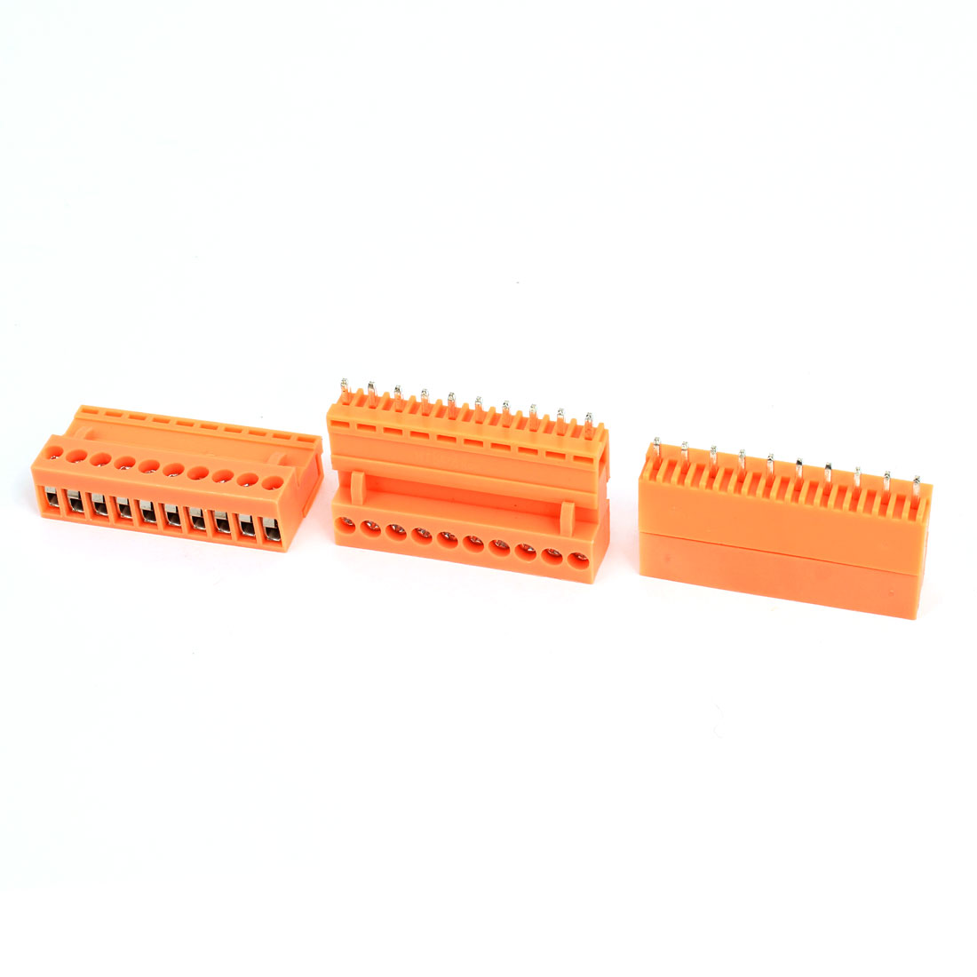 3 Pcs AC 300V 10A 10P PCB Screw Terminal Block Connector 3.96mm Pitch Orange