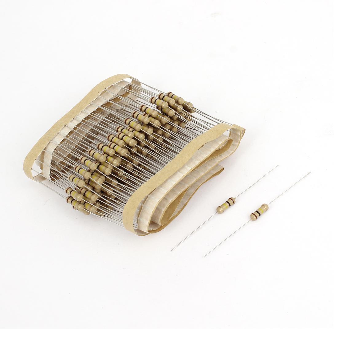 150 Pcs 100K Ohm 1/2W 5% Tolerance Axial Carbon Film Fixed Resistors