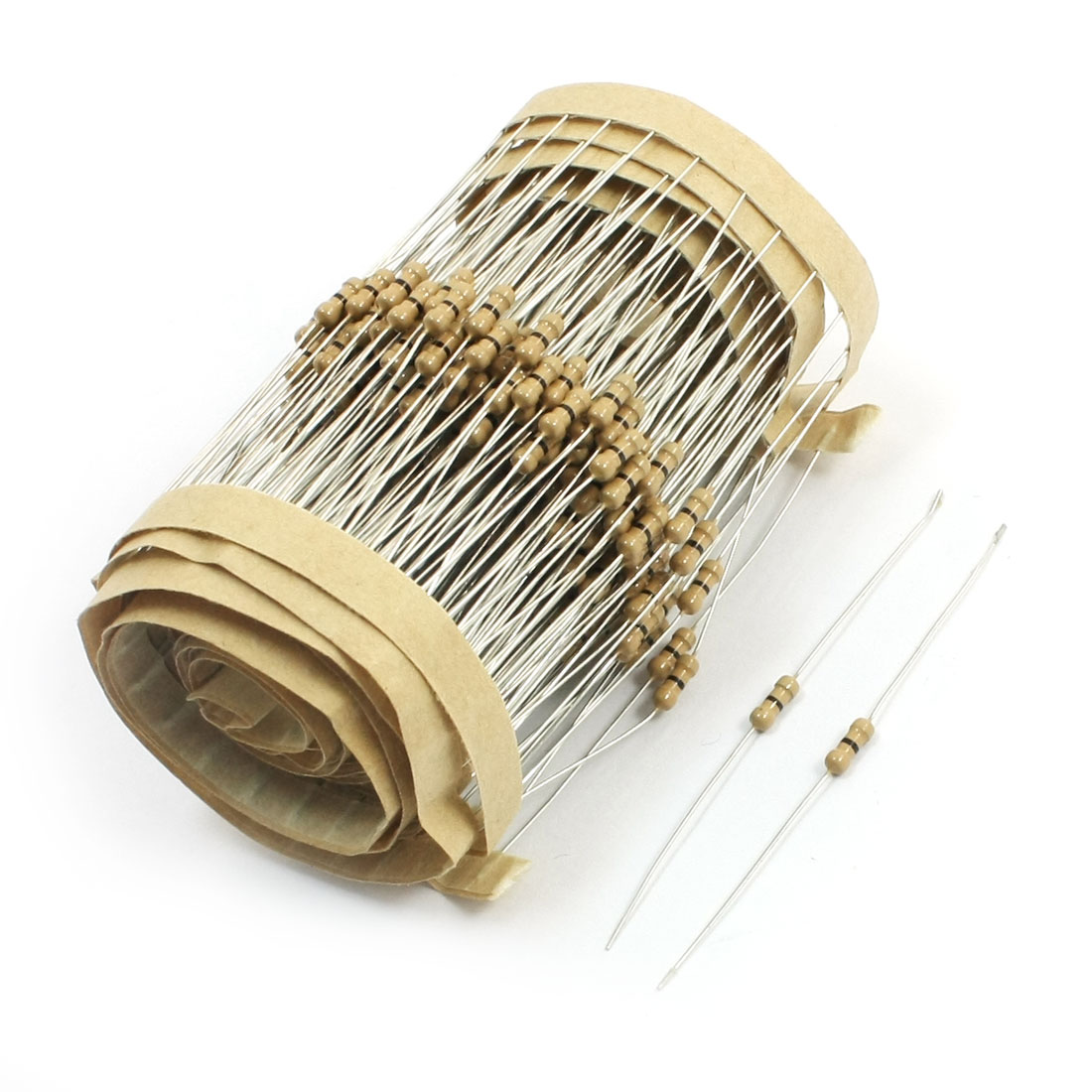 0 Ohm Resistance 0.25W Power Axial Lead Type Through Hole Mounting Carbon Film Fixed Resistors 300Pcs