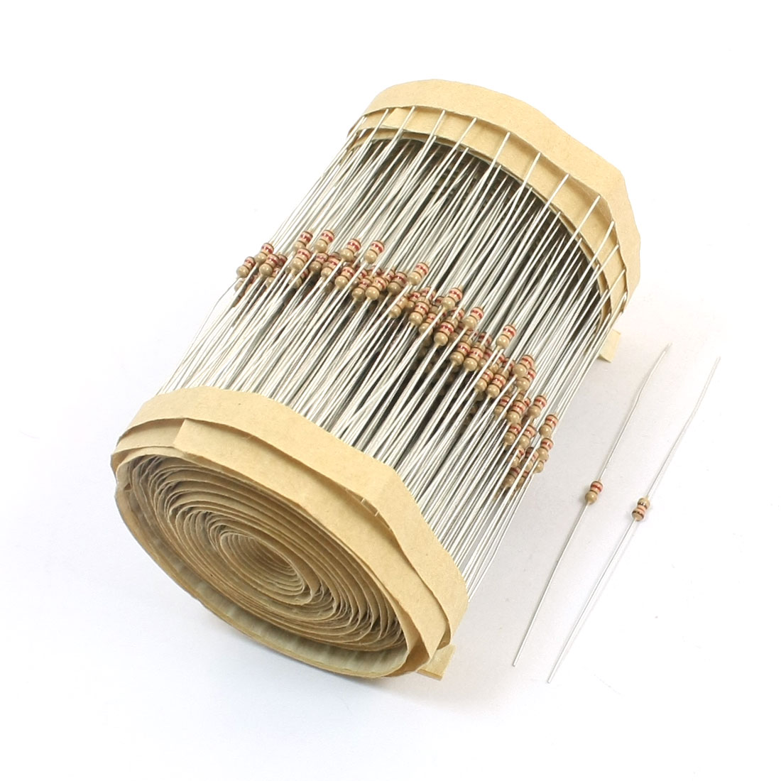 600 Pcs 120 Ohm 1/4W 5% Tolerance Axial Lead Type Through Hole Mounting 4 Color Ring Carbon Film Fix Resistors