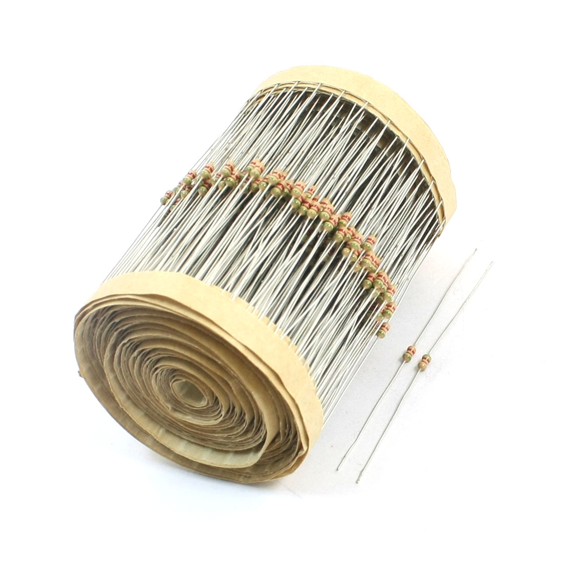 600 Pcs 1/8W 5.1K Ohm 5% Tolerance Axial Lead Through Hole PCB Surface Mount Carbon Film Fixed Resistors