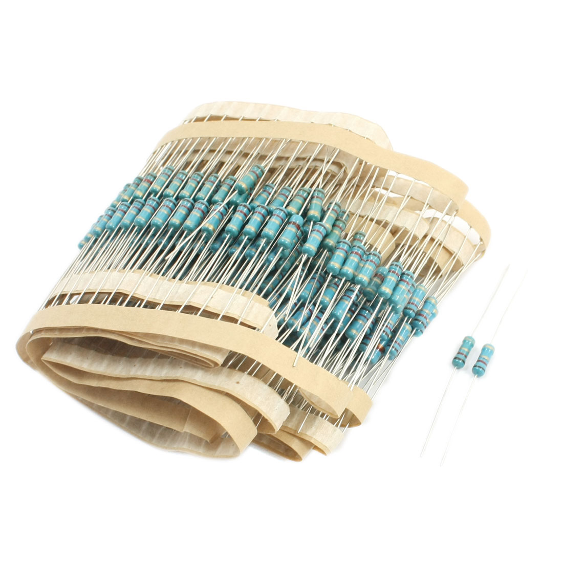 1.2 Ohm 0.5W Power 5% Tolerance Axial Lead Type Through Hole Mounting 4 Color Ring Carbon Film Fixed Resistors 280 Pcs