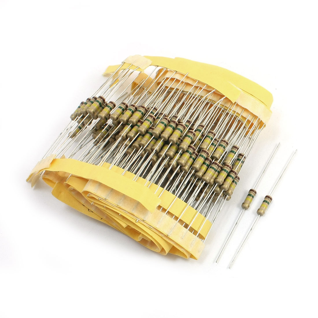 200 Pcs 150K Ohm 0.5Watt 5% Tolerance Axial Lead Type Through Hole Mounting Carbon Film Fixed Resistors