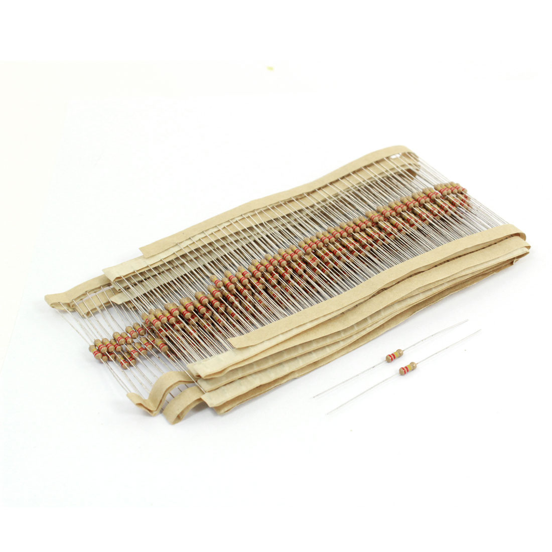 400Pcs 220K Ohm 1/4W Axial Leads Color Ring Carbon Film Resistor 0.25W