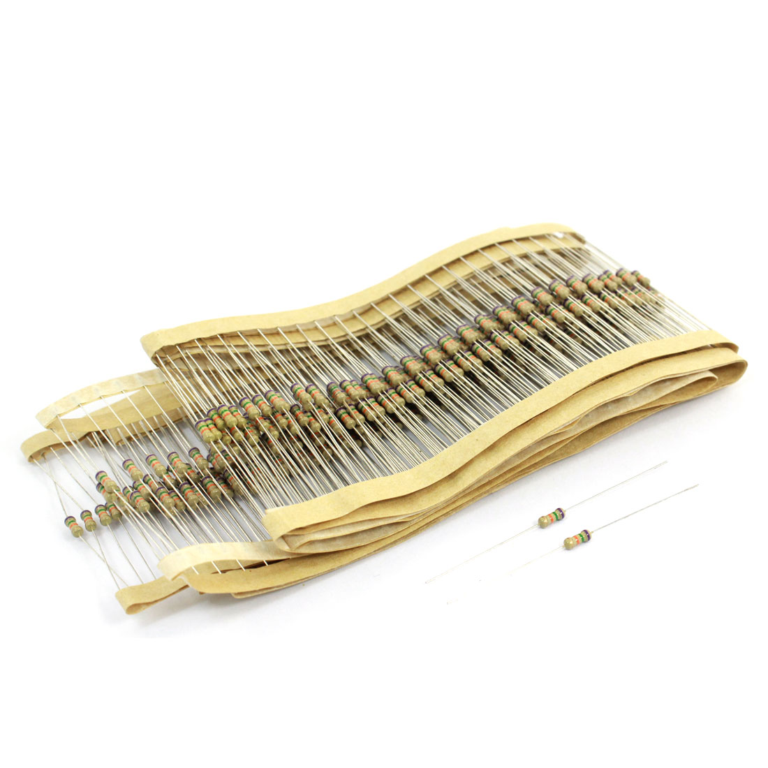400 Pcs Axial Leads Fixed Carbon Film Resistor 1/4W 0.25W 75K Ohm