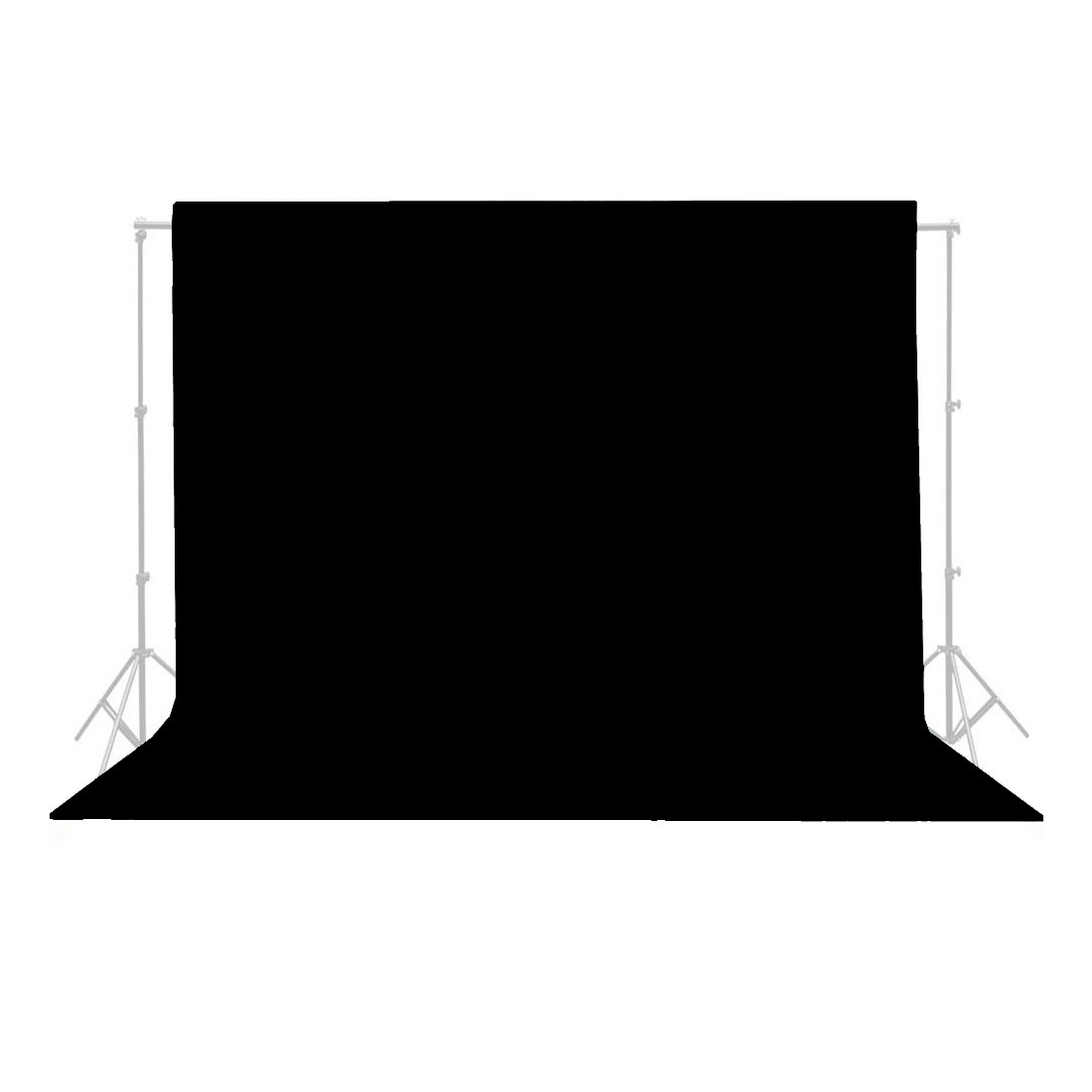 5Ft x 10Ft Black Non-woven Fabric Photography Backdrop Background Cloth