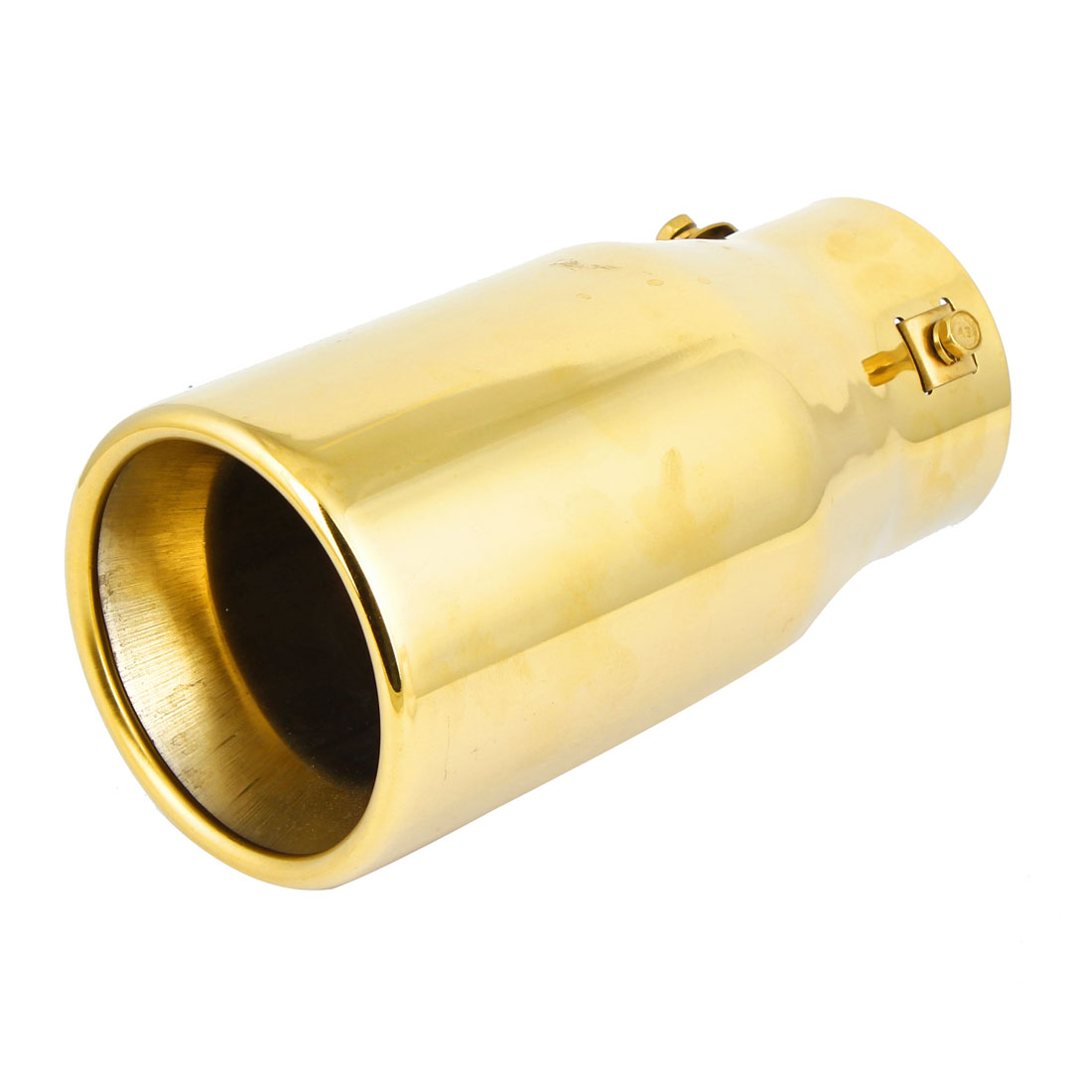 Vehicle Car 86mm Dia Rolled Exhaust Muffler Tip Pipe Gold Tone for Toyota Octavia