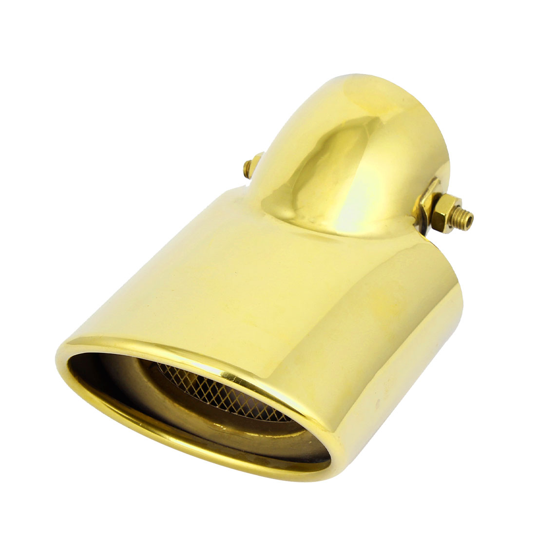 10.5cm x 8cm Oval Outlet Rolled Exhaust Muffler Tip Gold Tone for Chevrolet Cruze