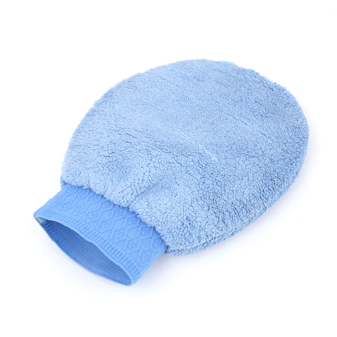 Car Washing Cleaning Tool Double Sides Microfiber Mitt Glove Blue