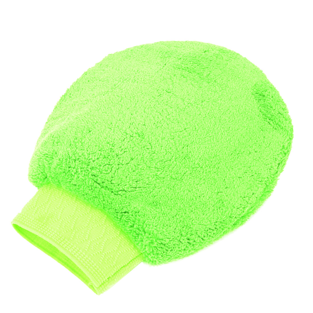 Car Washing Cleaning Tool Double Sides Microfiber Mitt Glove Green
